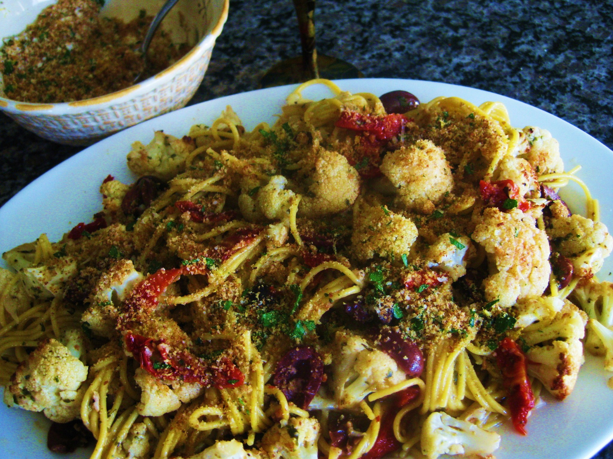 Pasta with Roasted Cauliflower, Sun-dried Tomatoes and Olives ...