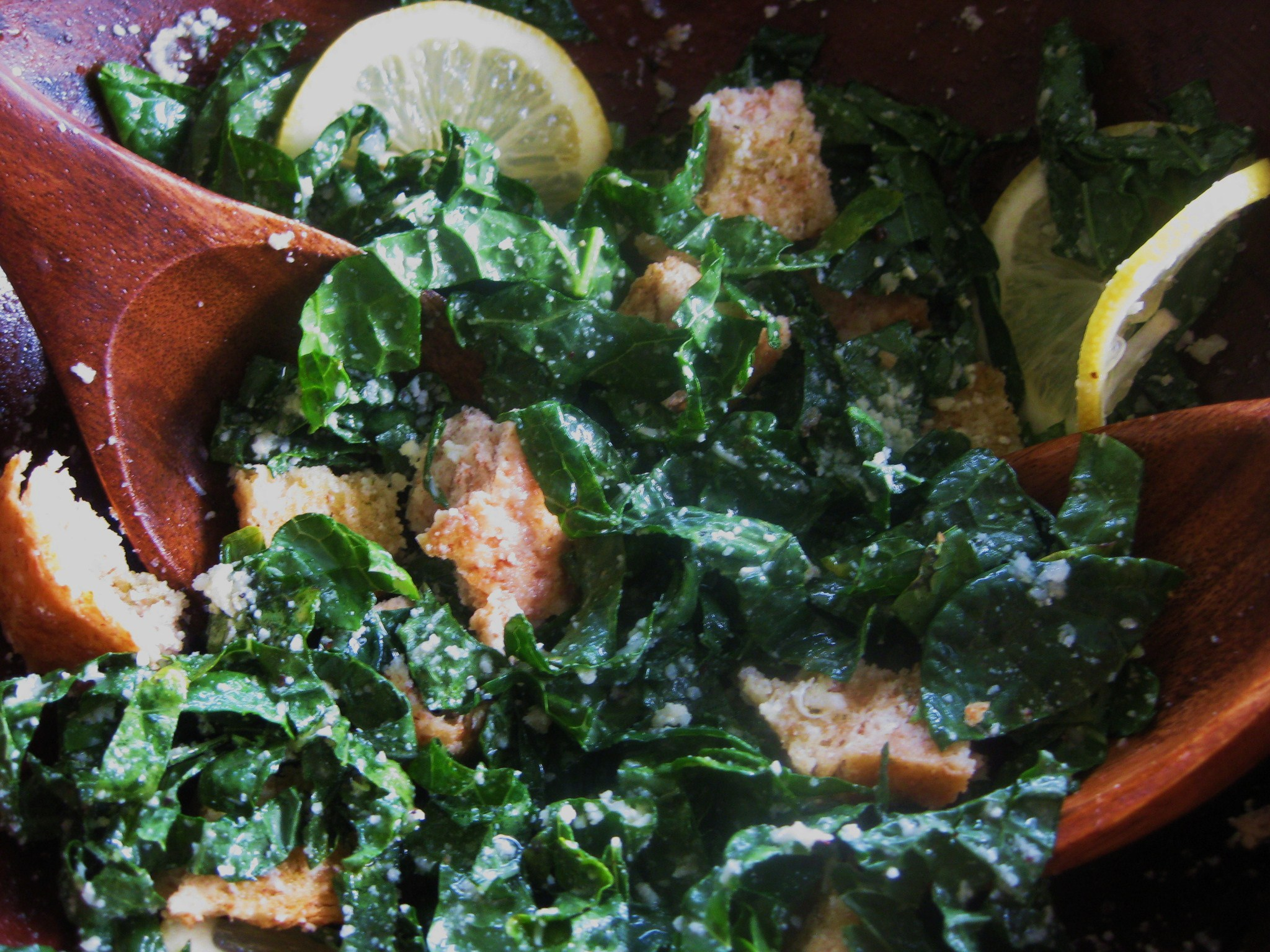 No-Fail Kale Caesar Salad Savoring Every Bite