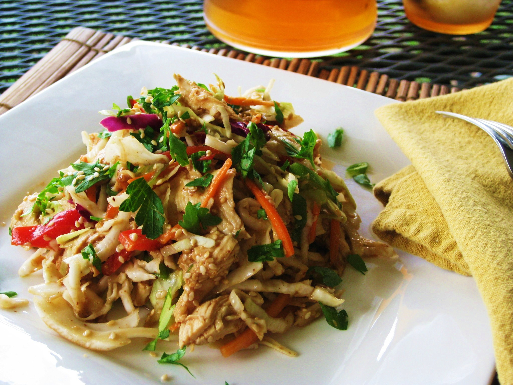 Shredded Asian Chicken Salad – Savoring Every Bite