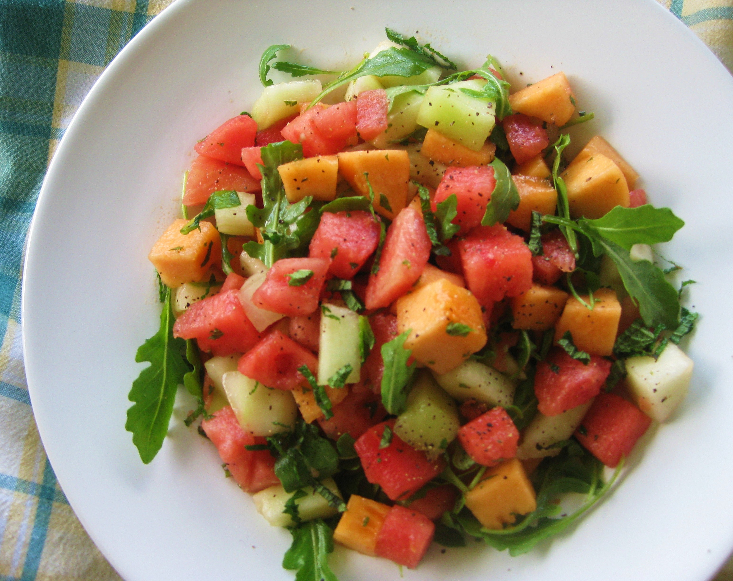 Melon-Arugula Salad Recipe — Dishmaps