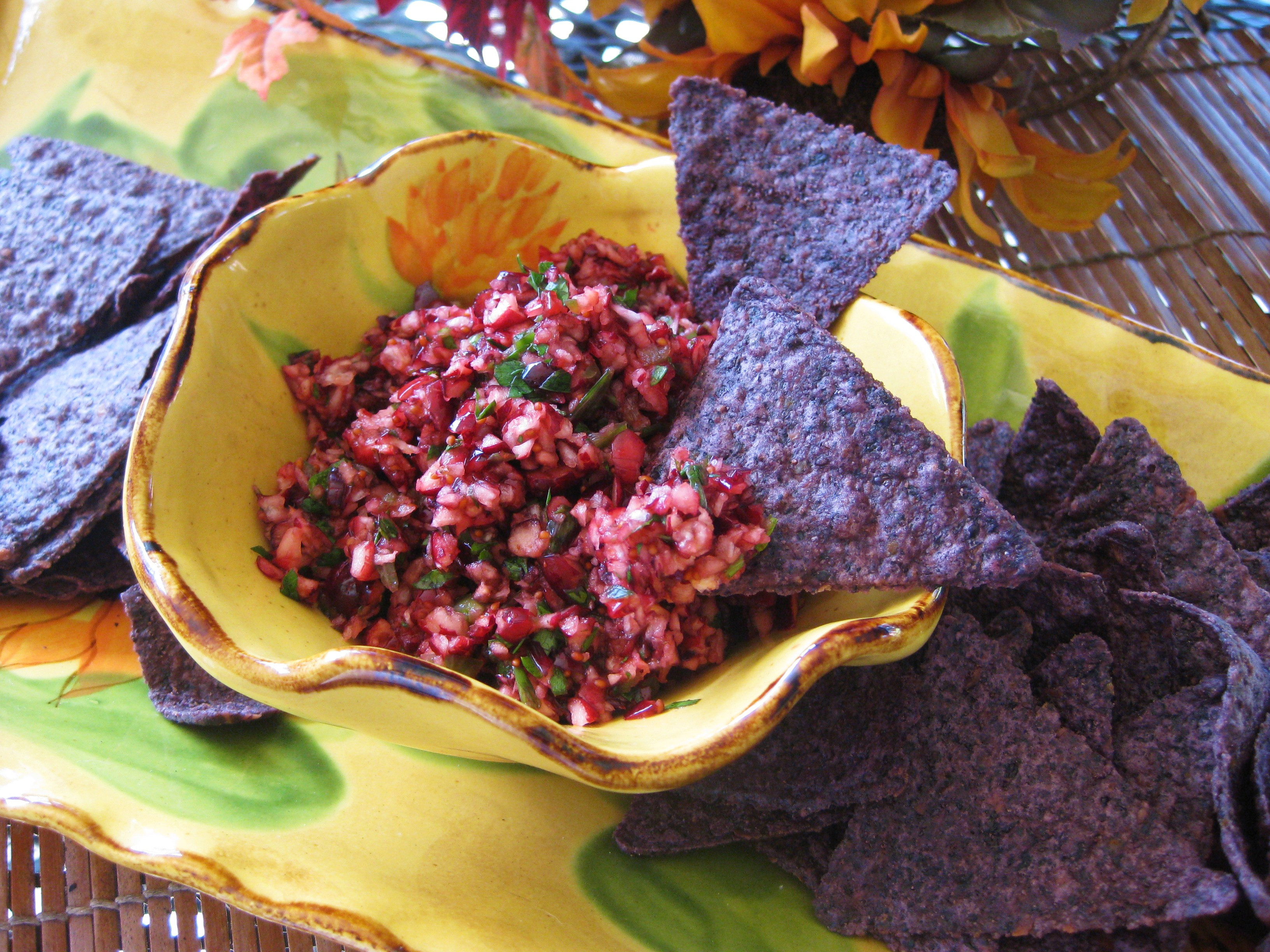 Cranberry Salsa Cream Cheese Holiday Appetizer With Baked ...