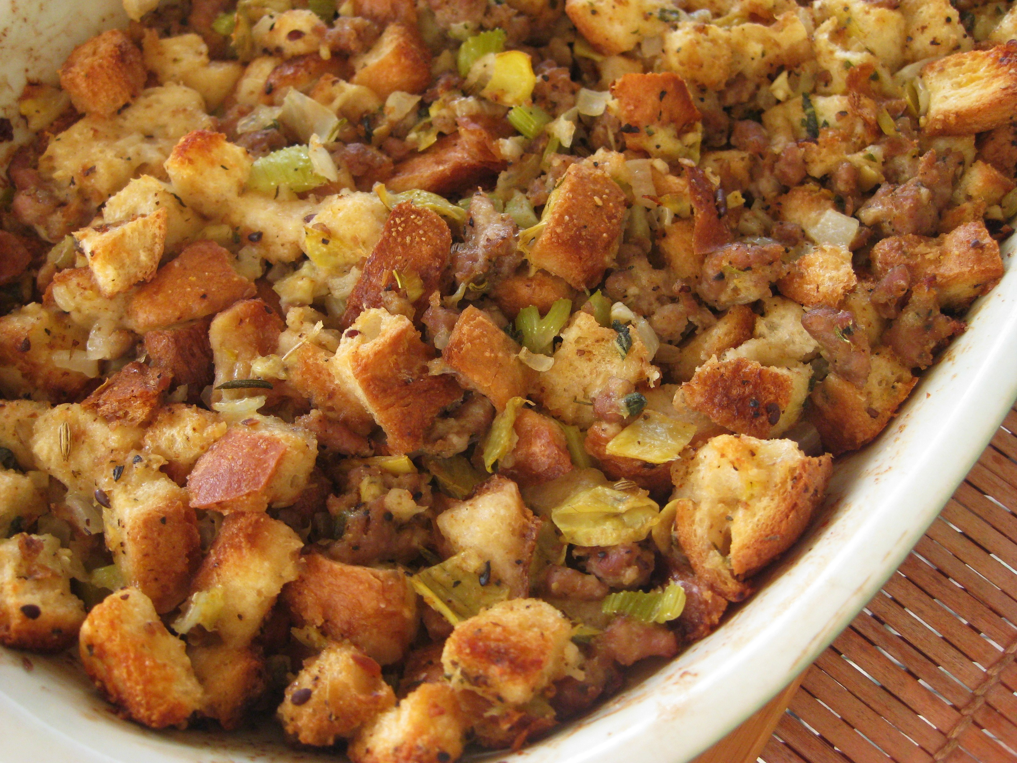 Artichoke, Sausage and Parmesan Stuffing – Savoring Every Bite