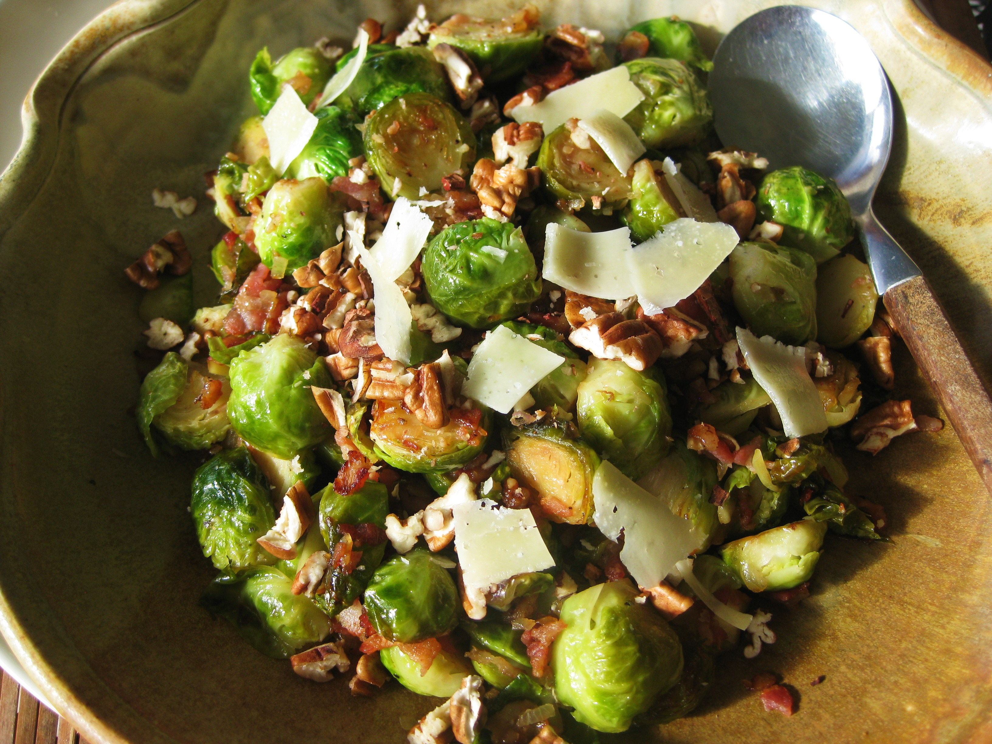 Braised Brussels Sprouts with Pancetta, Pecans and Parmesan ...