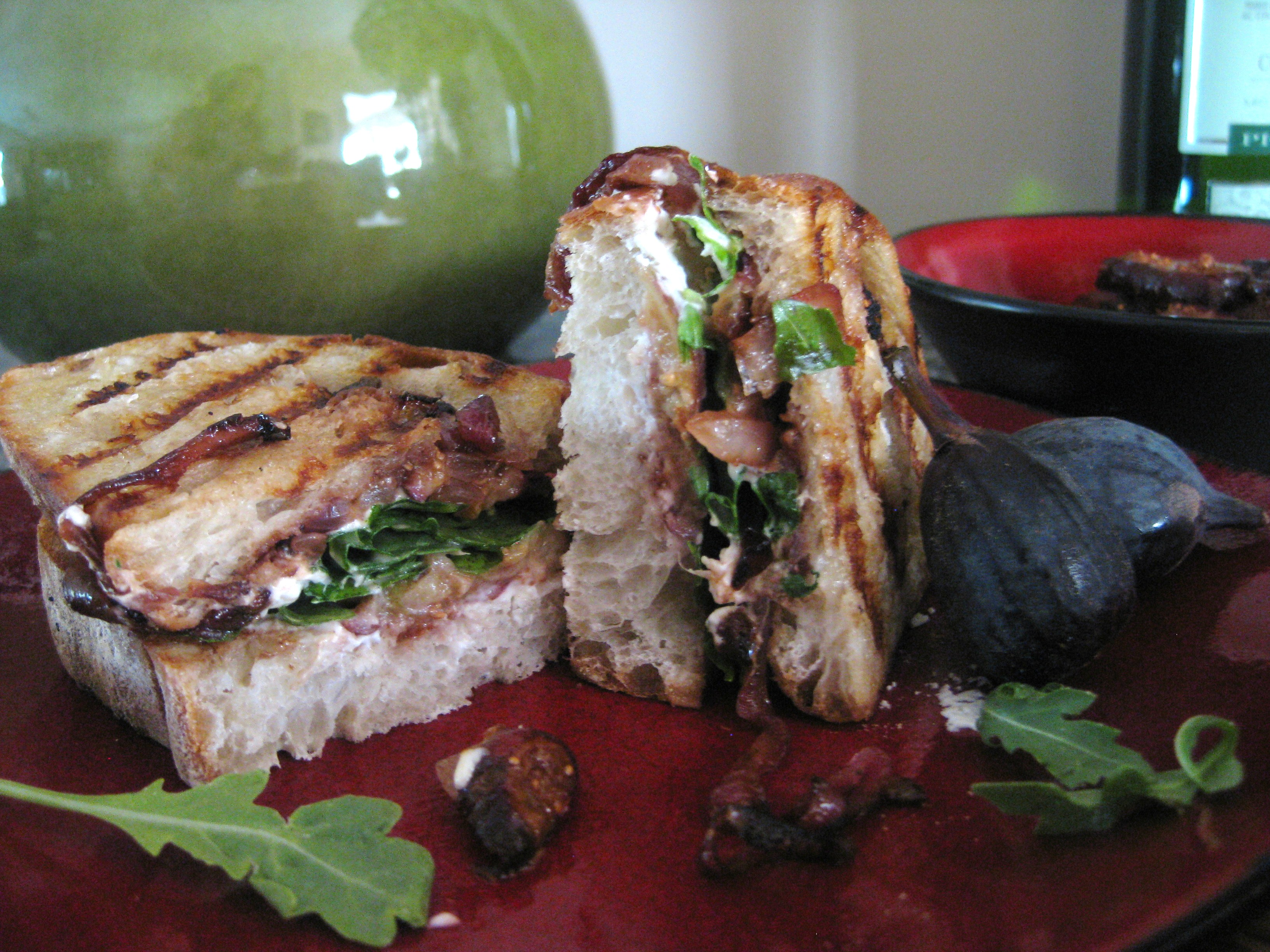Caramelized Onions, Figs and Goat Cheese Panini – Savoring Every ...