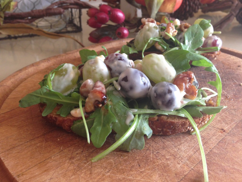 Gorgonzola Grape Salad Bruschetta