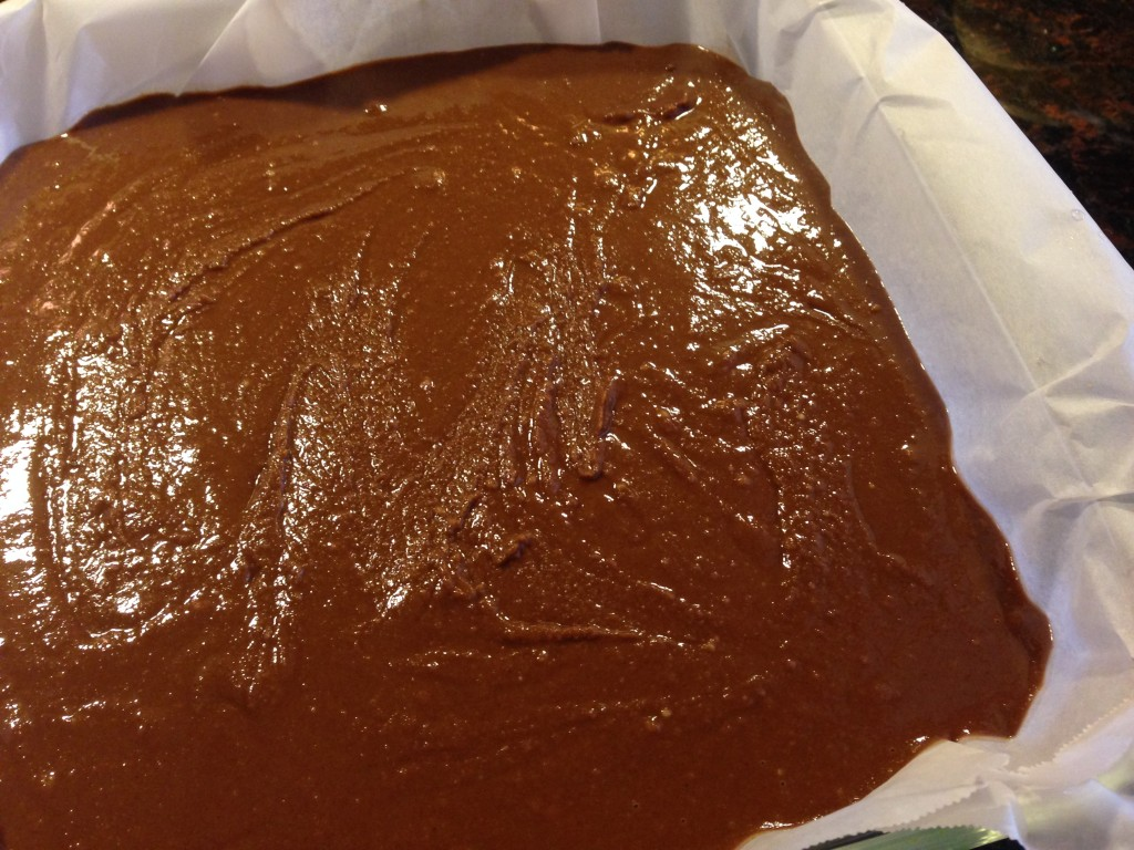 Peanut butter chocolate fudge prep2