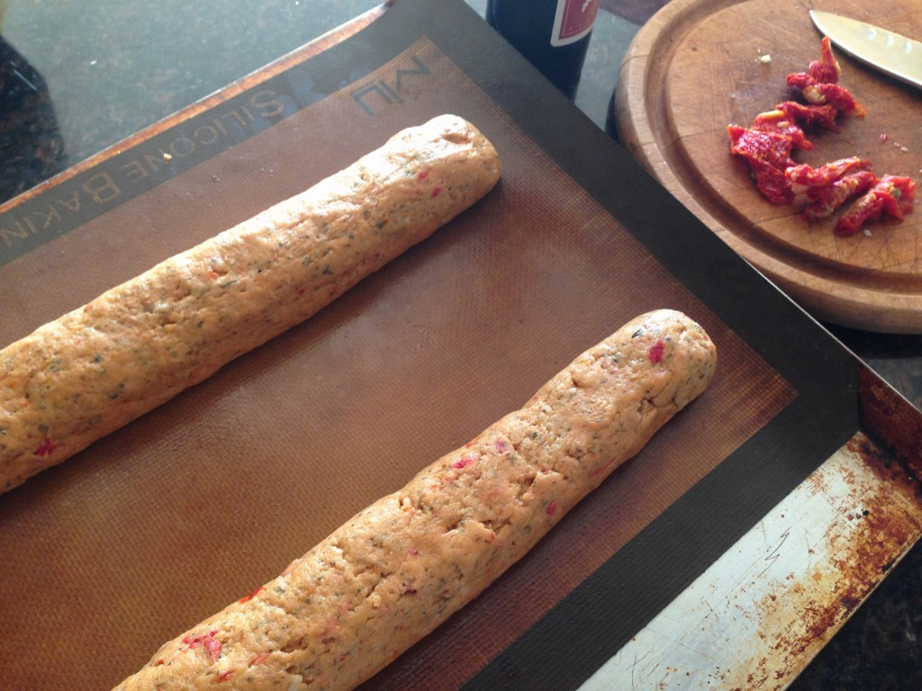 Savory Sundried Tomato biscotti prebake