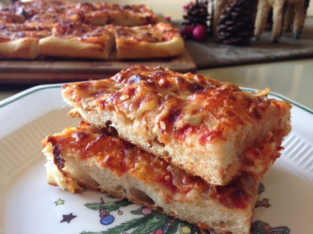 Sicilian Christmas Pizza (Sfincione) Recipe — Dishmaps